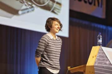 Speaking at a tech conference in Zurich