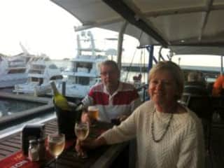 Drinks at the yacht club