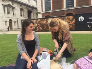 We're an easy going couple, picnic and boardgames in the park with friends are some of our favourite things