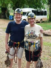 Bob & Deb loved zip-lining in a rain forest in Belize.