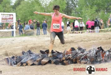 Ginger running an adventure race