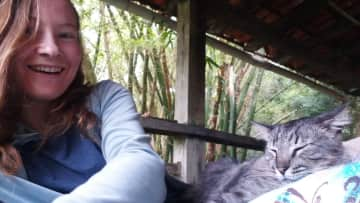 Hanging out in the hammock with Maori