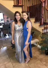Paige and I attending a fundraiser