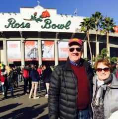 Sam and Valerie - at Rosebowl even though our beloved MN Gophers football team was not....