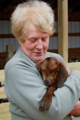 Gloria with goat!