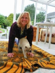 The purrfect yoga with the fur-baby Argie in Ireland