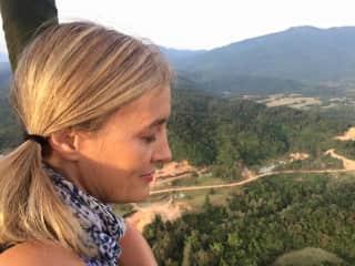 Ticking off a bucket list item - hot air ballooning in Vang Vieng, Laos