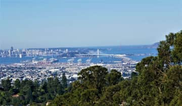 View of San Francisco Bay from living room
