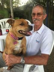 Roy with grand dog Mia