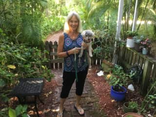My best friend, Kathy, who joined me on my latest housesit in Vero Beach, FL