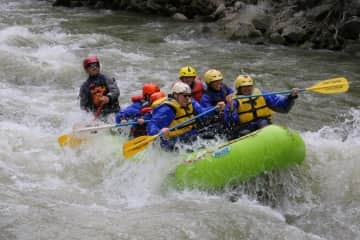 That's us in the front two spots, on the wild Gallatin River