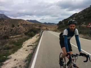 Mark on a ride in Spain, travelling locally the slow way