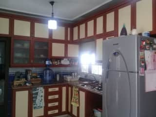 kitchen - don't ask why it is yellow!