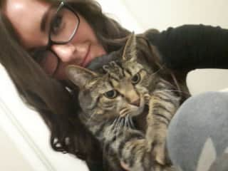 Bev With Our Lovely Pet Cat, Taz <3