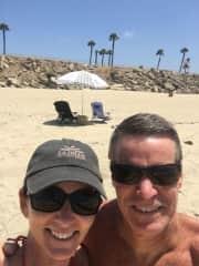 Mike and Lori enjoying the beach