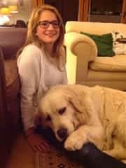 Emma and my dog Nicholas