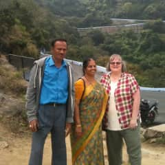 With my Indian friends near Coimbatore