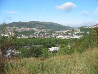 A view of my favorite place in the whole world! I lived in the market town of Pontypridd, Wales, from 2005 to 2009.