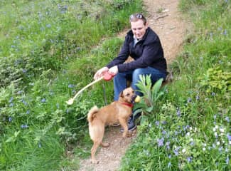 Rosie (Patterdale) and me