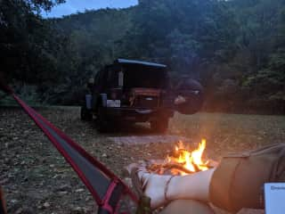 Jeep camping in Vermont!