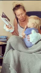 Reading to my friend's son