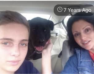 With my son and my sweet Freeshka girl when she was just about 3 years old