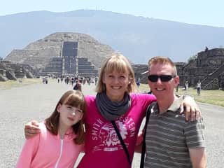 At Teotihuacan Pyramids in Mexico