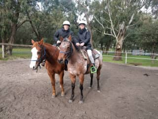 Horses, friends and family