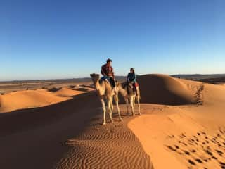 Desert excursion in Morocco