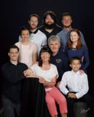 Our family, including a boy who is an orphan that we were hosting through New Horizons for Children, an organization I volunteer for.