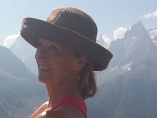 This is me last year, hiking around the Mont-Blanc bordering France, Italy and Switzerland.
