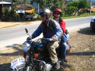Riding a Royal Enfield in Thailand