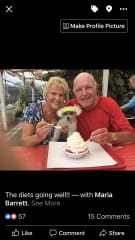 Me and Dave and of course Sugar eating Strawberry shortcake .. Sugar loved ice cream