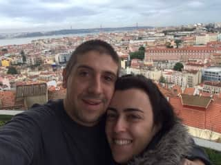 Jana and I in Portugal