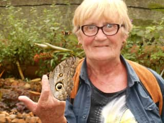 Jill at the Butterfly Farm