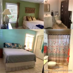 Top-Guest bedroom and bath/Bottom-your bedroom with attached bath