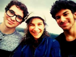 Diego (mostly away at college), Karen & Julio (age 14 & pet lover extrordiaire)
