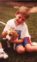 Me and my first dog-Summer.