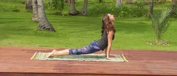 me doing my yoga