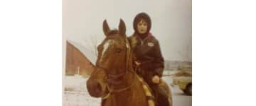 I spent several years growing up on a farm where we owned horses, cattle, sheep, ducks, milk cows (I had to hand milk the cows in the morning). This is me at 8 yrs old on my horse.