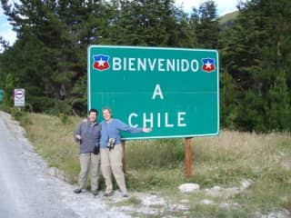 Johnna and Chris entering Chile