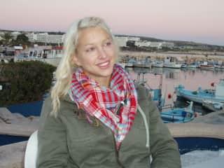 Enjoying the beautiful relaxed fishing harbor in Cyprus