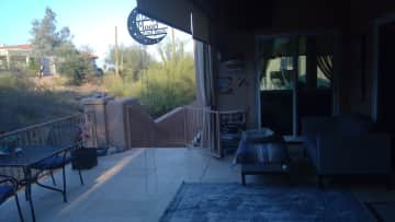 Back patio area.