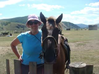 Meeting horses in Mongolia.