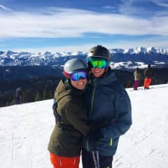 Derrick and I skiing in Keystone, CO