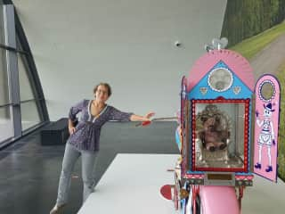 I am visiting Grayson Perry's exhibition at KIASMA Museum of Contemporary Art