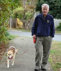 Peter and Bella going for one of their walks