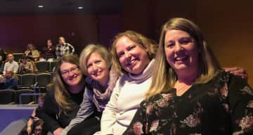 A night out with college friends at Orchestra Hall