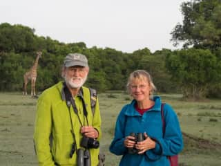 Drs. Tony and Dusti do research on wildlife in Kenya and host volunteers on their projects.