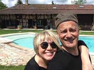 That's us on a wonderful housesit in France
